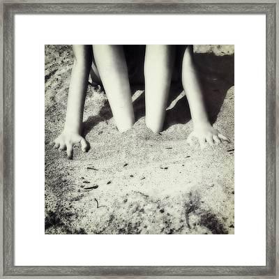 Feet In The Sand Framed Print by Joana Kruse