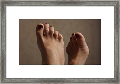 Feet Of A Happy Woman After Coupling Framed Print by Svetlana  Sokolova