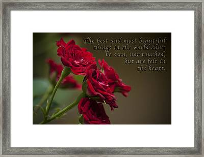 Felt With Heart Framed Print