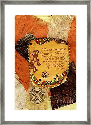 Felt With The Heart Framed Print by Angela L Walker