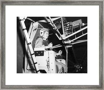 Female Astronaut Training Framed Print