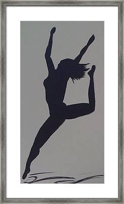Female Dancer Silhouette Framed Print by Judi Goodwin