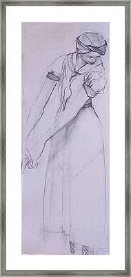 Female Figure 4269 Framed Print by Elizabeth Parashis