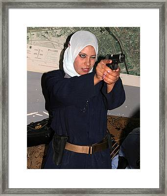 Female Iraqi Police Officers Practice Framed Print by Everett