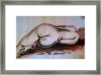 Female Nude Sleeping Framed Print