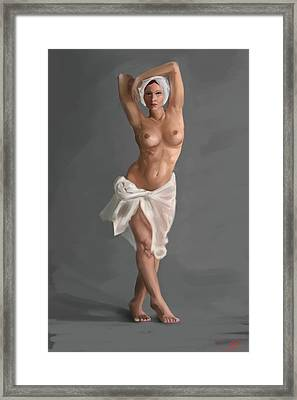 Female Nude Framed Print by Stephen Hawkes