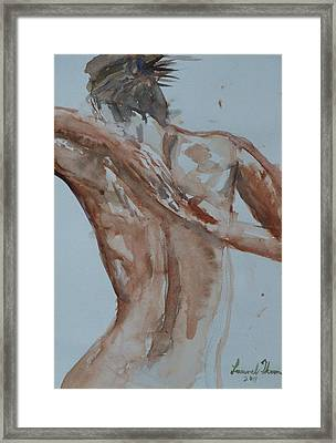 Female Nude Study No 1 Framed Print by Laurel Thomson