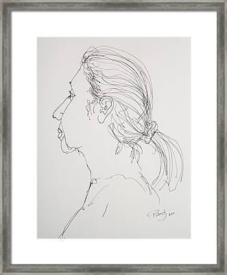 Female Portrait 05 Framed Print
