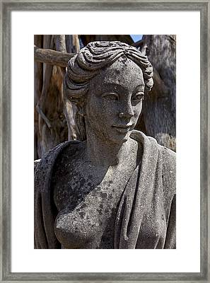 Female Statue Framed Print by Garry Gay