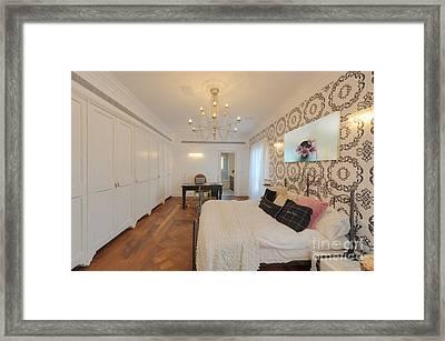 Feminine Decorated Bedroom Framed Print