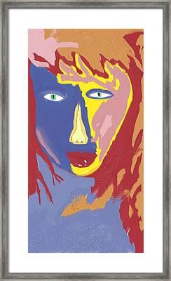 Feminine Fire Framed Print by Mark Stidham