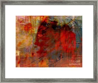 Femme In Flight Framed Print by Fania Simon