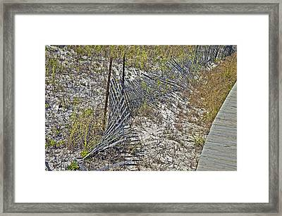 Framed Print featuring the photograph Fence And Boardwalk by Susan Leggett
