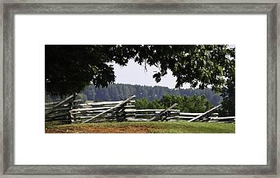 Fence At Appomattox Framed Print by Teresa Mucha