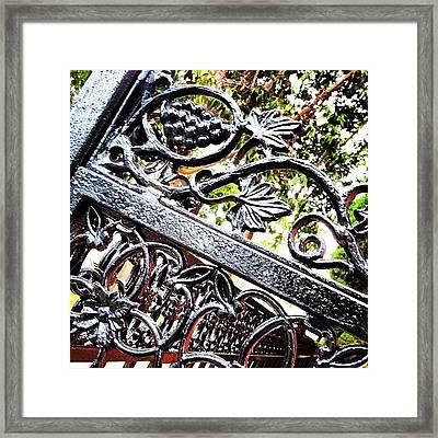 #fence #gate #decorative #ornamental Framed Print by Daniel Corson