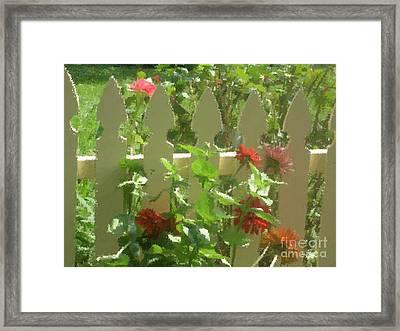 Fence On Benner's School Road Framed Print