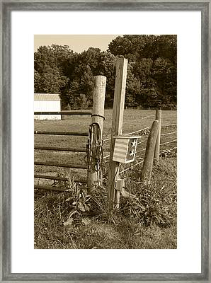 Fence Post Framed Print by Jennifer Ancker