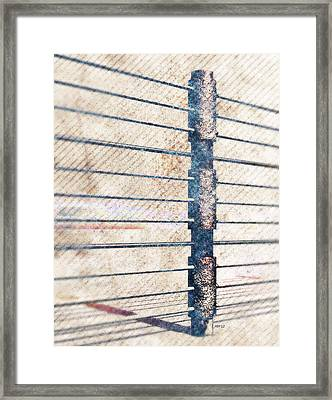 Framed Print featuring the digital art Fence Post by Phil Perkins