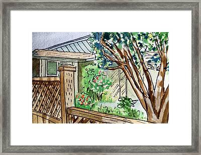 Fence Sketchbook Project Down My Street Framed Print by Irina Sztukowski