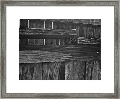 Framed Print featuring the photograph Fence To Nowhere by Bill Owen