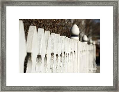 Fence Framed Print by Yumi Johnson
