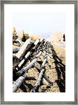Fencing Framed Print by Rick Thiemke