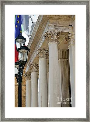 Fenice Theatre Facade Framed Print by Sami Sarkis