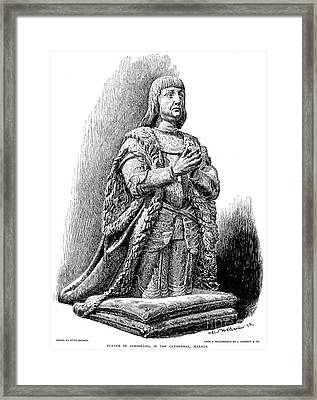 Ferdinand V Of Castile (1452-1516) Framed Print by Granger