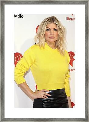 Fergie At Arrivals For Clear Channel Framed Print by Everett