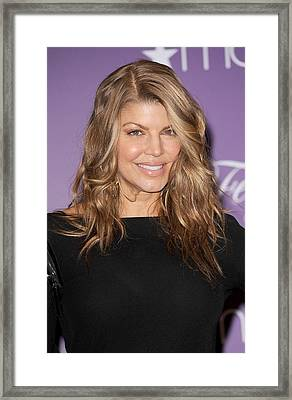 Fergie At In-store Appearance Framed Print by Everett