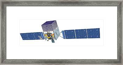 Fermi Gamma-ray Space Telescope, Artwork Framed Print