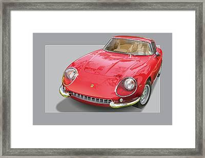 Ferrari 275 Gtb 4 Framed Print by Alain Jamar