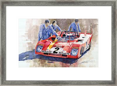 Ferrari 312 Pb 1972 Daytona 6-hour Winning Framed Print