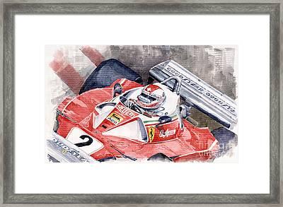 Ferrari 312 T 1976 Clay Regazzoni Framed Print by Yuriy  Shevchuk