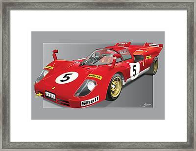 Ferrari 512  S Framed Print by Alain Jamar