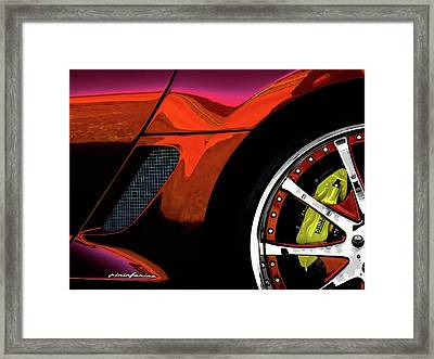 Ferrari Wheel Detail Framed Print by Douglas Pittman
