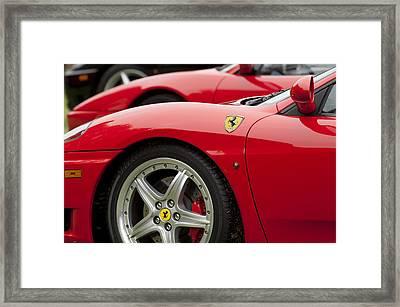 Ferraris 5 Framed Print by Jill Reger