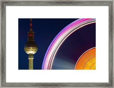 Ferris Wheel Berlin Framed Print
