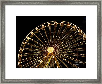 Ferris Wheel Framed Print by Bernard Jaubert