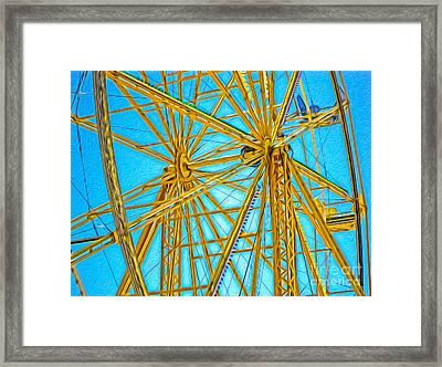 Ferris Wheel Framed Print by Gregory Dyer