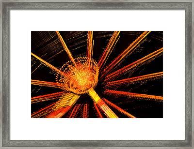 Ferris Wheel Lights Framed Print by Jeffrey Auger