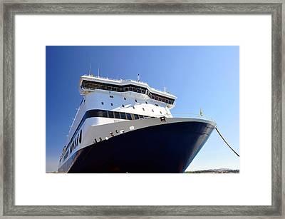 Ferry Boat. Framed Print by Fernando Barozza