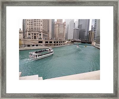 Ferry Through Chicago Framed Print
