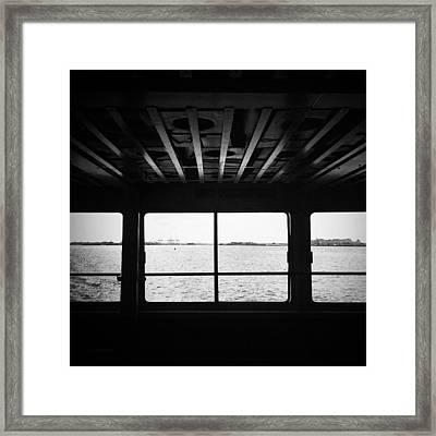Ferry Window Framed Print by Eli Maier