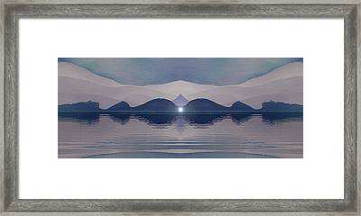 Framed Print featuring the painting Fertile Hills by Susan  Solak