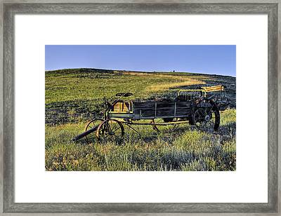 Framed Print featuring the photograph Fertilizer Spreader by Stephen  Johnson
