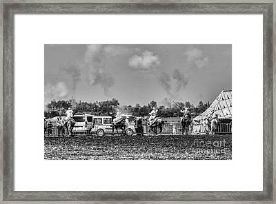 Festival Final Bw Framed Print by Chuck Kuhn
