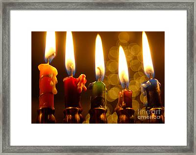 Framed Print featuring the photograph Festival Of Lights by Linda Mesibov