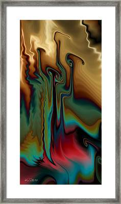 Framed Print featuring the digital art Fever by Kim Redd