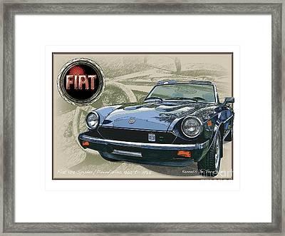 Fiat Spyder Framed Print by Kenneth De Tore